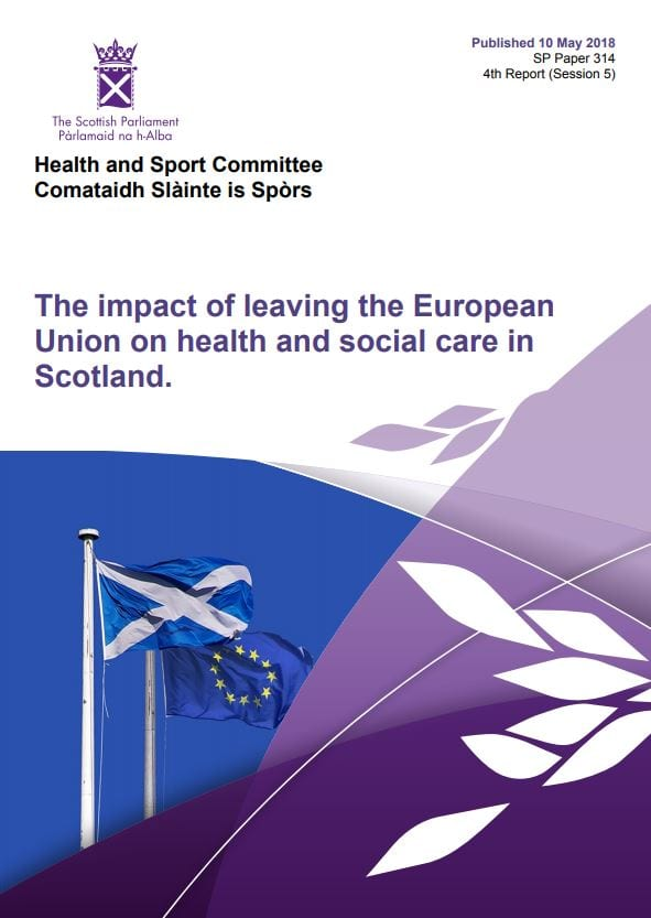 College welcomes Holyrood's Brexit & Health report