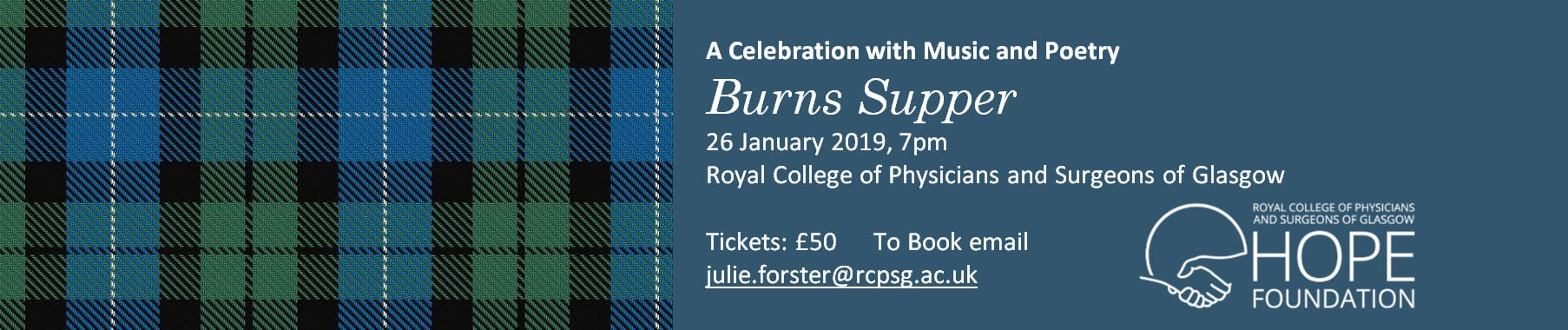 The HOPE Foundation Burns Supper – 26 January 2018