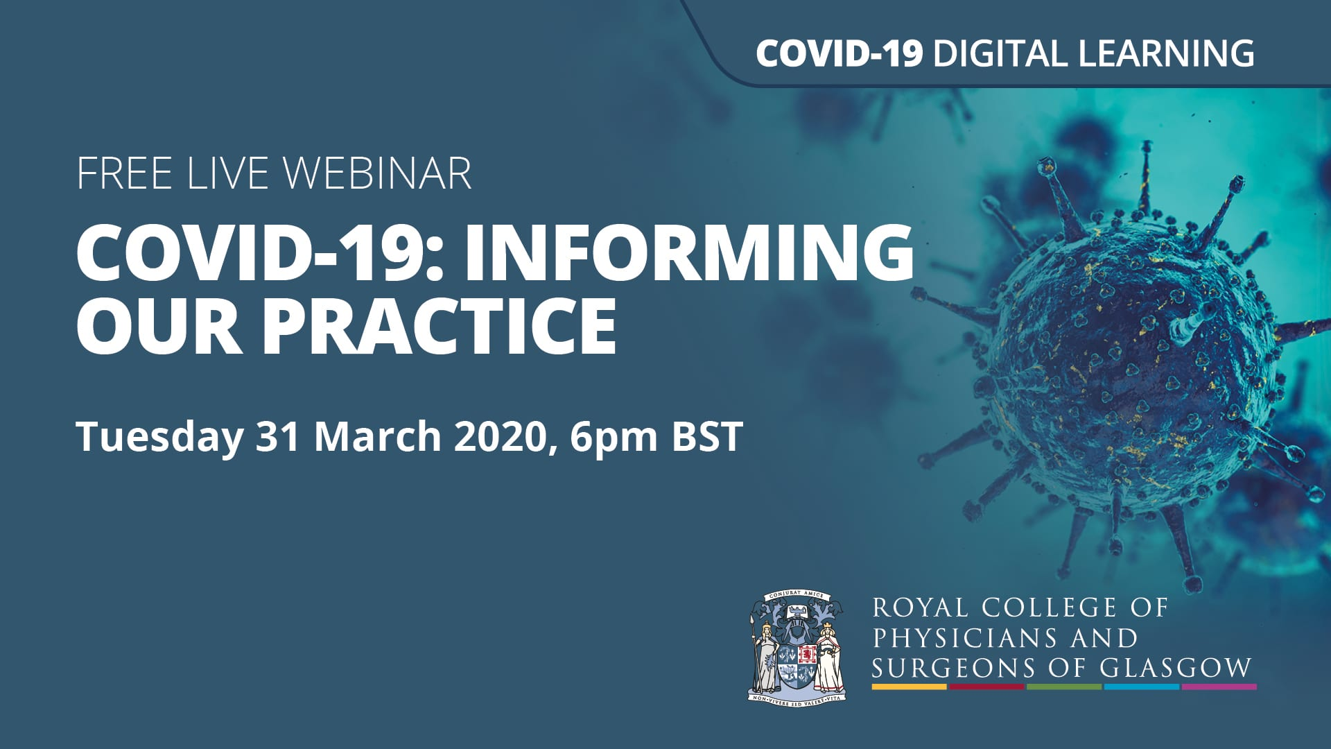 Webinar – COVID-19: Informing our practice – Tuesday 31 March